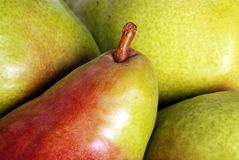 Macro of pears Royalty Free Stock Photo