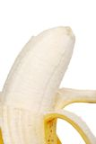 Macro peeled banana Stock Image