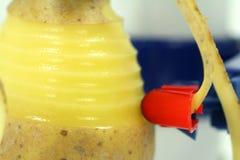 Macro from peeled potatoes Stock Photos