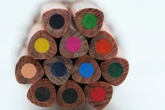 Macro pencils Royalty Free Stock Photography