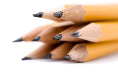 Macro of pencils. Shallow focus macro of pencils royalty free stock photo