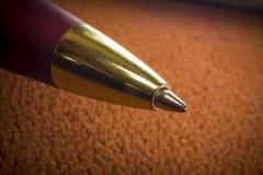 Macro penna a sfera Immagini Stock Libere da Diritti