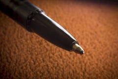 Macro penna a sfera Fotografie Stock Libere da Diritti