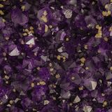 Macro photo of amethyst crystals with yellow calcite cubes. Background image royalty free stock photo
