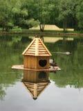 Macro photo avec le fond décoratif de paysage en parc de ville avec les éléments décoratifs de conception Photo stock