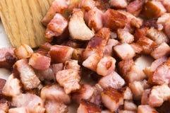 Macro photo of bacon Stock Photo