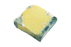 Macro photo of a block of Cheese with green mold Royalty Free Stock Photos