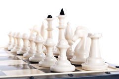 Macro photo of chess pieces Royalty Free Stock Photography
