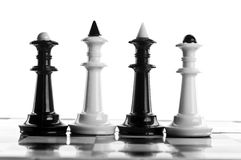 Macro photo of chess pieces Stock Image
