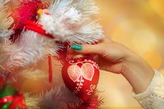 Macro photo of christmas ball Stock Photo