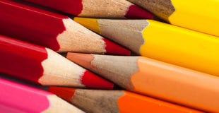 Macro photo of colored pencils Stock Photos