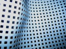 Macro photo with decorative background geometry of unique structure of natural leather material. With perforation for production of items and accessories as a stock photography