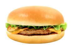 Macro photo delicious cheeseburger Stock Image