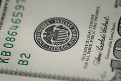 Macro photo of federal reserve system symbol on Royalty Free Stock Photos