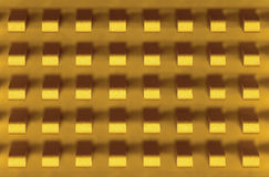 Macro-photo of golden metal radiator Royalty Free Stock Photography