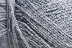 Macro Photo of Grey Wool. Royalty Free Stock Photography