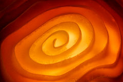 Macro photo of illuminated spiral surface Royalty Free Stock Photography