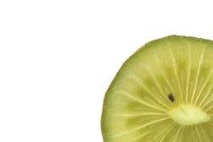 Macro photo of a kiwi. Isolated over white Stock Photos