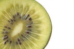 Macro photo of a kiwi. Isolated over white Royalty Free Stock Photography