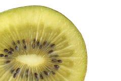 Macro photo of a kiwi. Isolated over white Stock Image
