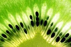 Macro photo of kiwi fruit. Abstract macro photo of kiwi fruit with seeds stock photography