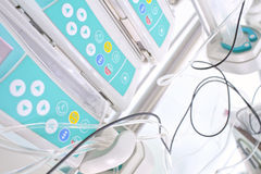 Macro photo of medical equipment. Royalty Free Stock Images