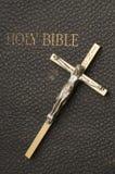Cross on Antique Bible Stock Photos