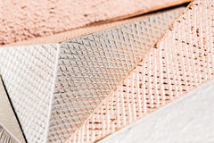 Macro photo of metallic pyramid stock images