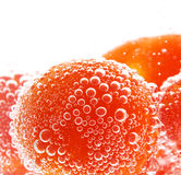 Macro photo of objects with bubbles Royalty Free Stock Images
