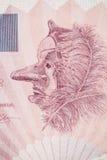 Macro photo of the old Belgian banknote Stock Photo