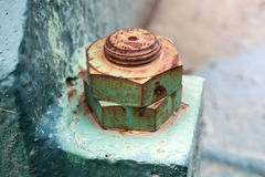 Macro photo of old rusted nuts and bolt Stock Image
