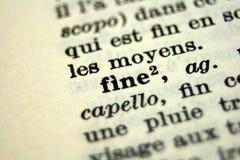 Macro photo. Macro picture of words in vocabulary Stock Photos