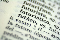 Macro photo. Macro picture of words in vocabulary Royalty Free Stock Images