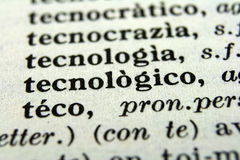 Macro photo. Macro picture of words in vocabulary Royalty Free Stock Image