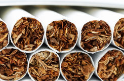 Pile of cigarettes Stock Image