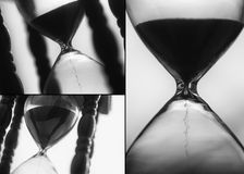 Macro photo of sand hourglass Stock Images