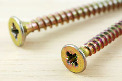 Macro photo of screws Stock Photography