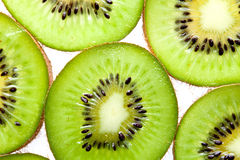 Macro photo section of kiwi fruit Royalty Free Stock Photography