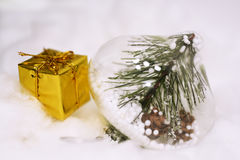 Macro photo of some Christmas objects. Stock Photo