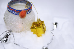 Macro photo of some Christmas objects. Royalty Free Stock Photos