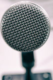 Macro photo of a vocal microphone Stock Images