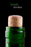 Macro photo of wine bottle Royalty Free Stock Photography
