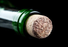 Macro photo of wine bottle Royalty Free Stock Photo