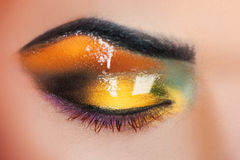 Macro photo of woman's closed eye with make up Stock Image