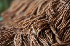 Macro photo of wool from the carpet. Homemade soft blanket royalty free stock photos