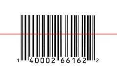 Macro photograph of a bar code Stock Photos