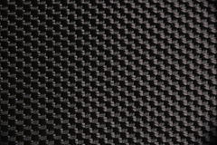Macro photograph of a black nylon fabric Stock Images