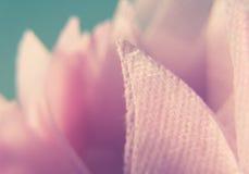 Macro Photograph of Pink Cotton Textile Stock Image