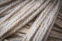 Macro Photograph of a wool yarn Royalty Free Stock Photo
