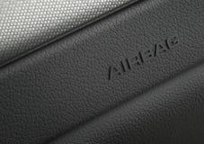 Macro photographie d'un système de degré de sécurité de sac à air de véhicule Photo libre de droits